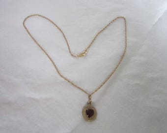 """Vintage 14k Gold Filled Double Length 16"""" Chain Necklace with Free Gold Filled Pendant"""