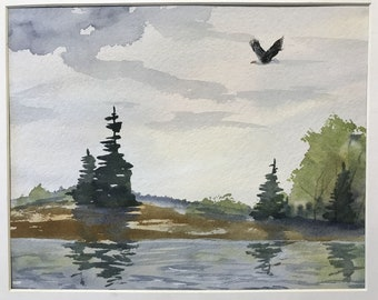 Eagle River Original Watercolor