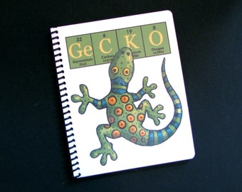 Gecko Journal Notebook ElementeesTM for the nerd in you