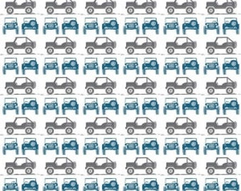 Gray & Blue Jeeps from Riley Blake Design's J is For Jeep Collection