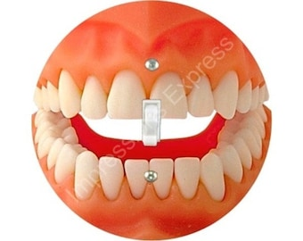 Teeth Single Toggle Switch Plate Cover
