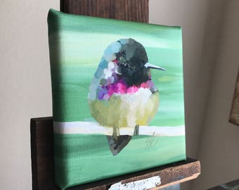 """Canvas reproduction giclee PRINT from my digital painting, """"Costa's Hummingbird"""""""