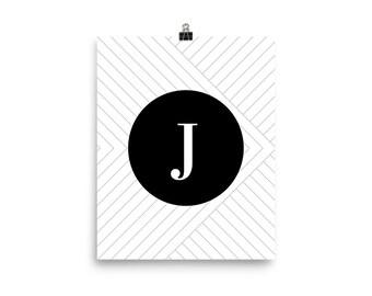 Santorini Collection J print