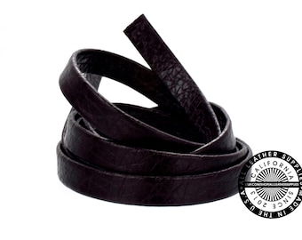 """Genuine Leather Strap, Folded Dark Brown, 6mm (1/4"""" inch) 3 yards (108"""" inches)  (1718)"""