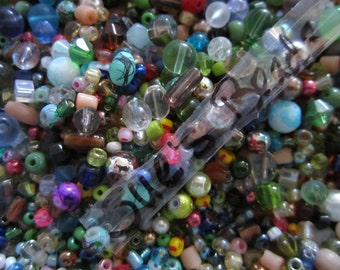 250 Small Glass Bead Mix, Bulk Assortment