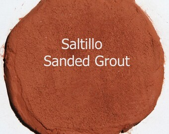 Desert SALTILLO 5 Pounds Mosaic Tile Grout Burnt Orange Brown Sanded Polymer Fortified for Home Projects - Just Add Water