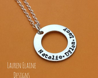 Washer necklace etsy aloadofball Images