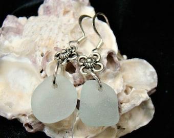 Sea Mist Green Sea Glass Earrings