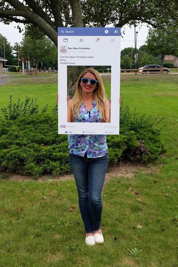 Facebook-Stil Foto Prop Rahmen Facebook Rahmen Selfie Board, Photobooth, Hochzeit Foto-Prop, Digital Download, personalisiert, druckbare