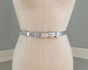 Whiting and Davis Vintage Belt/Vintage Whiting and Davis Mesh Belt/Skinny Vintage Belt/Mesh Belt/Waistline Jewelry