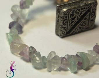 Set of 60 fluorite and fluorite chips