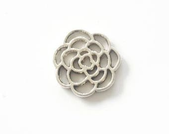 Silver Flower spacer connector