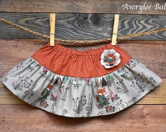 Baby Skirt, Tribal Baby Girl Outfit, Boho Baby Clothes, Baby Girls Clothing, Baby Girl Ruffled Skirt, Skirts for Babies, Girls Clothing