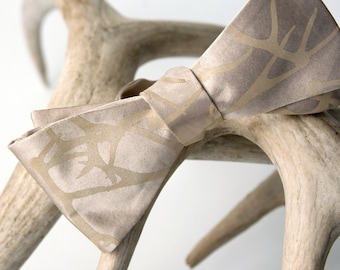 Antler bow tie. Stag Party abstract deer antler bow tie. Gift for taxidermists or taxidermy fans, hunters, bachelors, grooms-to-be.