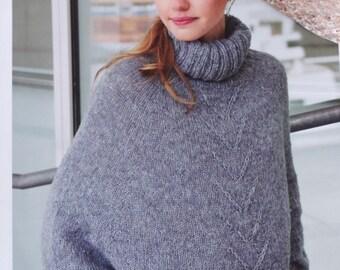 Color selection: Oversized merino/Alpaca sweater hand Knit
