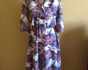 1970/80's Does 50's Print Dress