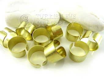 10 Raw Brass Adjustable Ring Setting, Adjustable Ring Base Blank, Raw Brass Findings