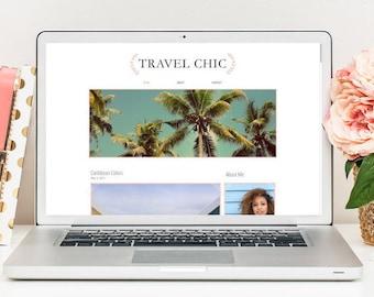 Premade Blog Template, Lifestyle Blog Template, Travel Blog Template, Responsive Blog Template, Minimal Blog Template