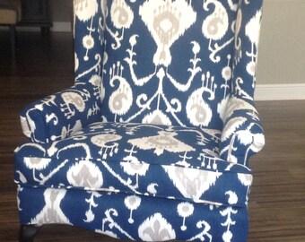 wingback chair - new custom upholstery
