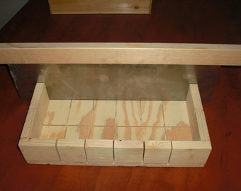 wooden soap mold loaf/cutter makes 18 bars
