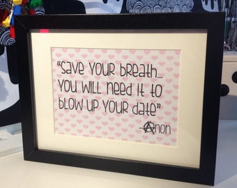 """Framed """"Sarcasm Sign"""" by AsBeAu """"Date"""""""