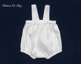 Off white cotton romper suit - 3 months