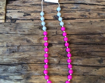 Teething necklace, silicon