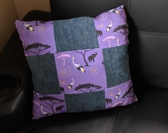 East African Grey Crowned Crane Quilted Pillow