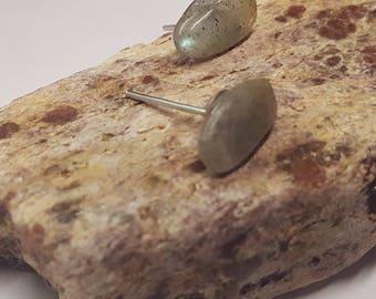 Natural Gemstone Studs/ Labradorite Studs/ Labradorite Posts/ Natural Studs/ Natural Posts/ Earthy Gemstone Studs/ Labradorite Studs/ Labrad