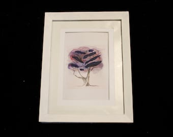 Purple Watercolour Tree