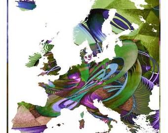 Map Europe, map Denmark