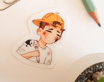 Little Boy w/ Wrench~~Sticker