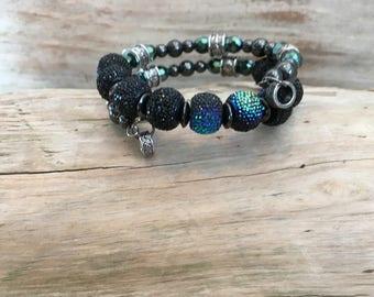 Black and Green Celtic Wrist Wrap