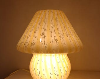 Mushroom lamp Murano la murrina swirl glass Made in Italy 1960s