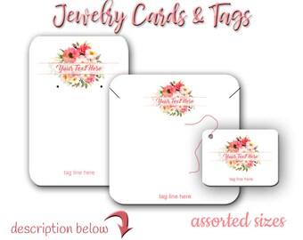 Bijoux personnalisés cartes, Hang Tag, Bracelet Tag, personnalisé, porte boucle d'oreille, mariage Etiquettes, pli sur le Tag, cartes de boucle d'oreille, affichage cartes