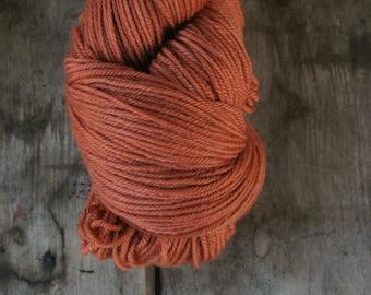 Russet Hand Dyed Superwash Wool