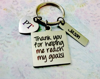 Physical Therapist Gift Keychain, Thank You Gift, Physical Therapy, Therapist Gift, Therapist Keychain, Custom Physical Therapist, PT, DPT.