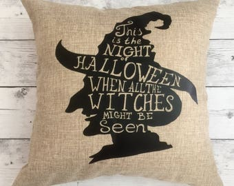 Halloween Pillow Cover, Witch