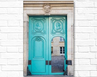 Paris Photograph on Canvas - The Open Door, Gallery Wrapped Canvas, Architecture Photo, Urban Decor, Large Wall Art