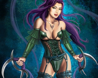 13x15 Signed Warrior Princess Print