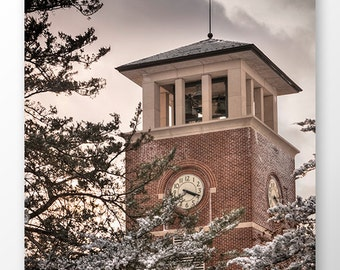 Truman State University Winter Photo Print, Graduation Gift, Office Wall Art, Kirksville, Missouri, Winter Scenery