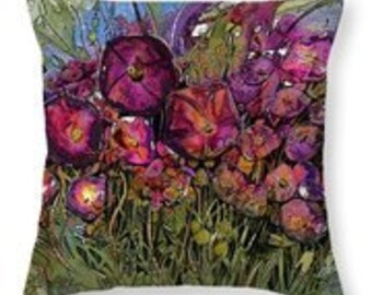 Purple Petunia Pillow