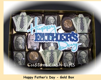 """MONEY GIFT Made with Real Money. """"Happy Father's Day"""" Box-O-Bucks, Sunday, 17 Jun 2018. Surprise Dad with this Fun and Delightful Gift."""