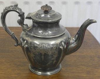 antique silver plate tea pot & Antique Silver Plate Tea Pot from The Homestead Virginia Hot