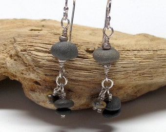 Beach Pebble Dangles