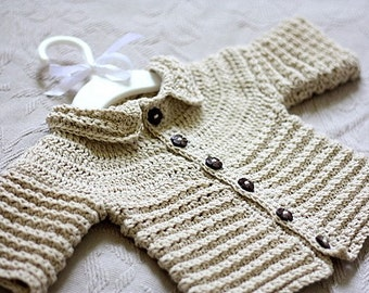 Crochet PATTERN  - Nina's Baby Cardigan