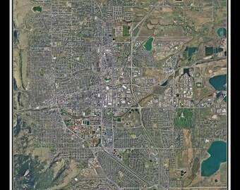 Boulder Colorado Satellite Poster Map