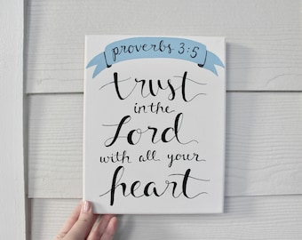 Trust in the Lord Canvas Painting