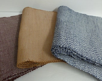 Place mats handwoven - choice of 3 colors