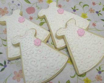 Christening Gown Cookies - 1 Dozen